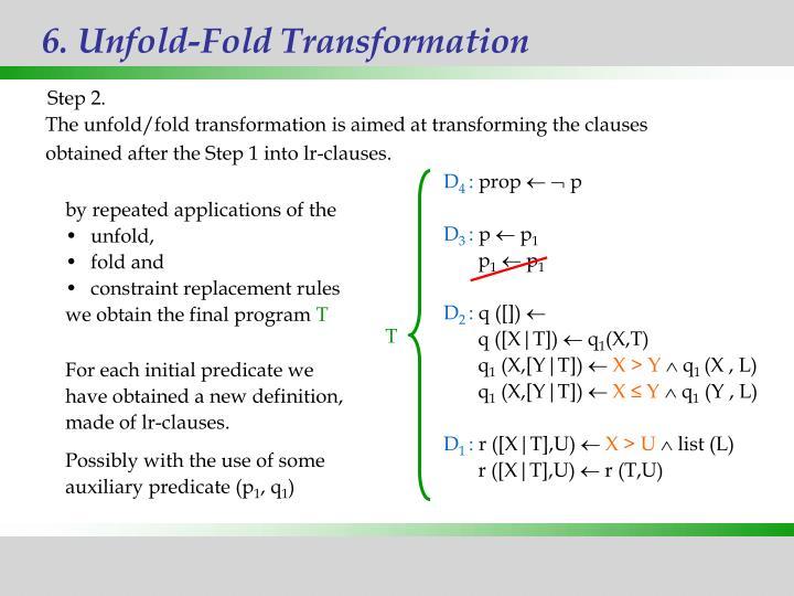 6. Unfold-Fold Transformation