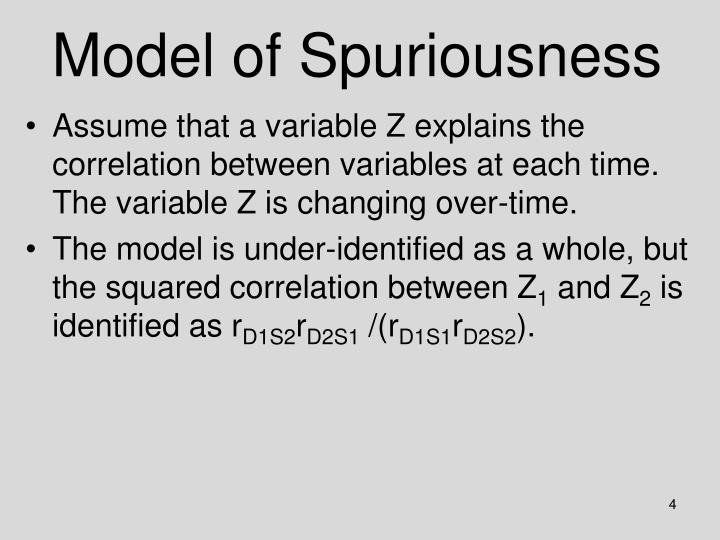 Model of Spuriousness