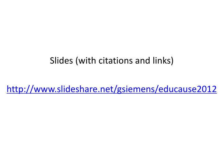 Slides (with citations and links)