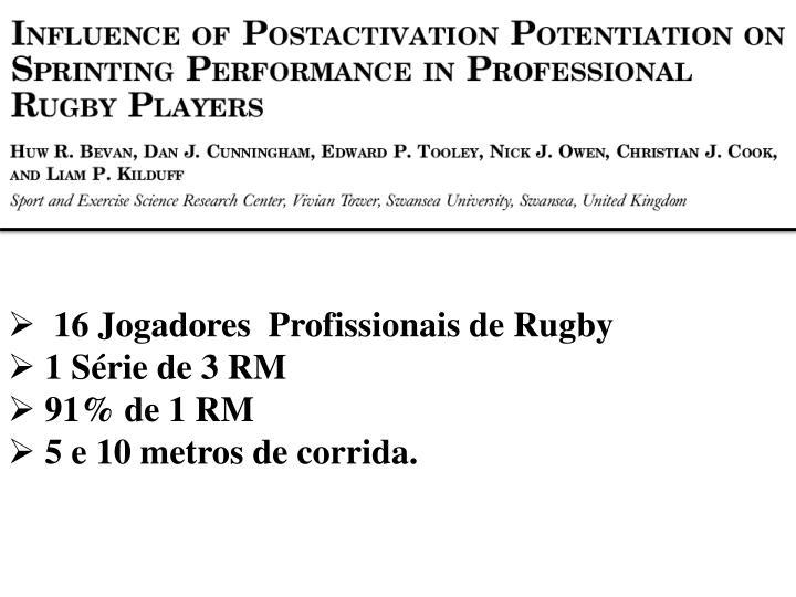 16 Jogadores  Profissionais de Rugby