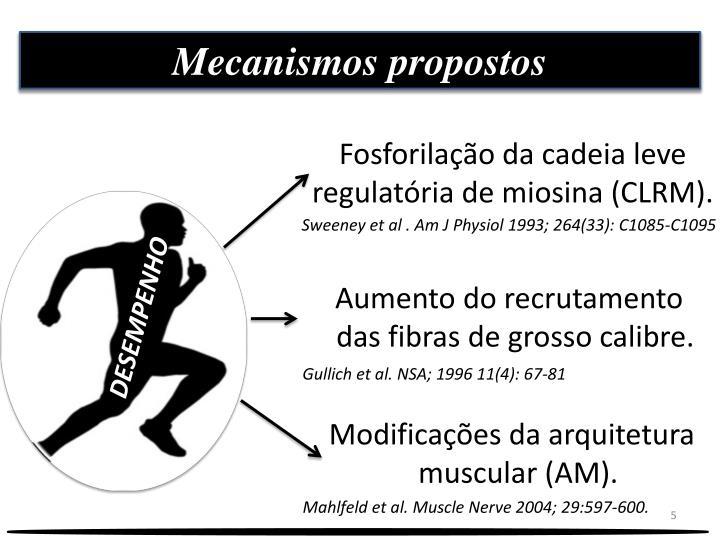 Mecanismos propostos