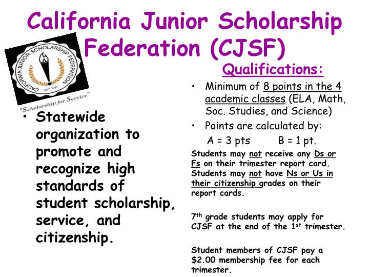 California Junior Scholarship Federation (CJSF)