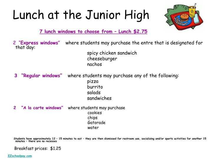 Lunch at the Junior High