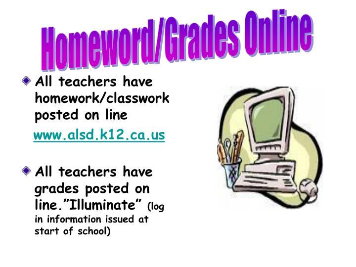 Homeword/Grades Online