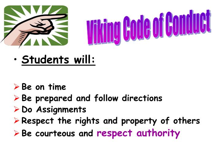 Viking Code of Conduct