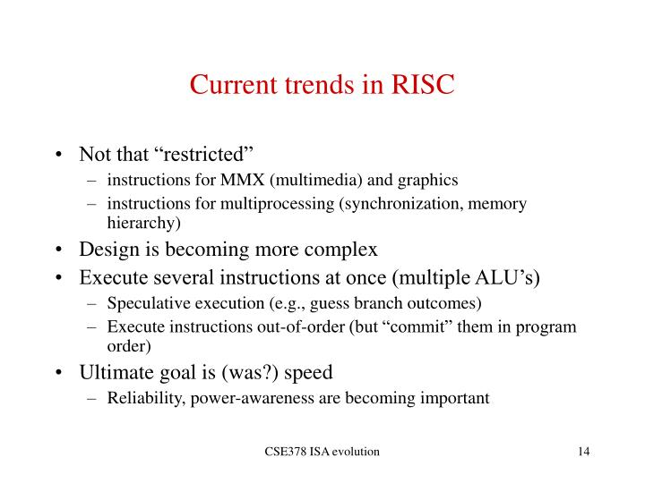 Current trends in RISC