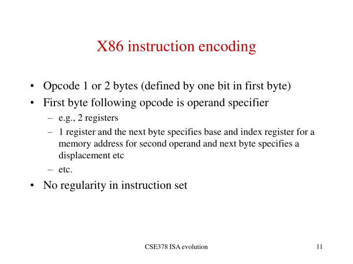 X86 instruction encoding