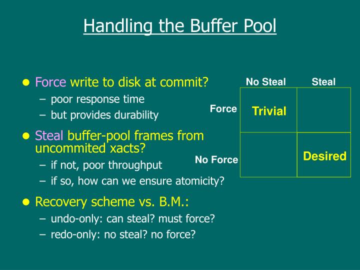 Handling the Buffer Pool
