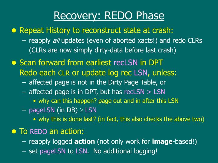 Recovery: REDO Phase