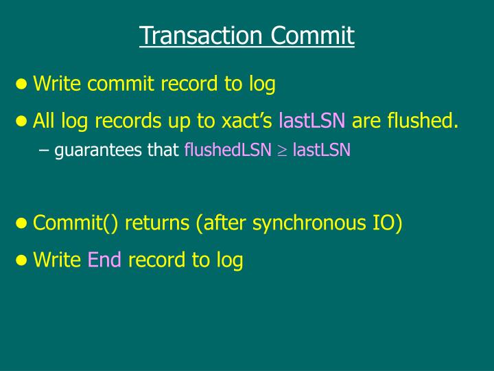Transaction Commit