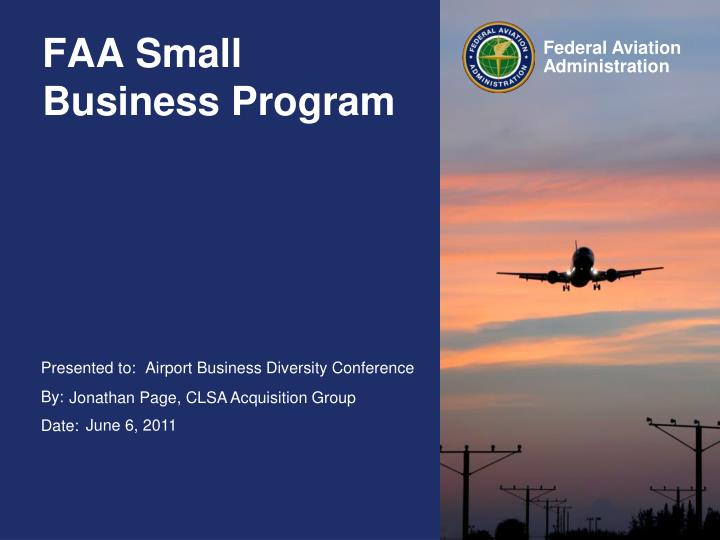 Faa small business program
