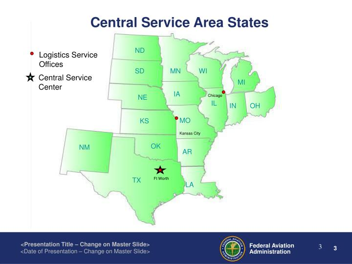 Central Service Area States