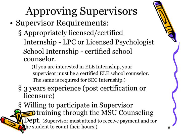 Approving Supervisors