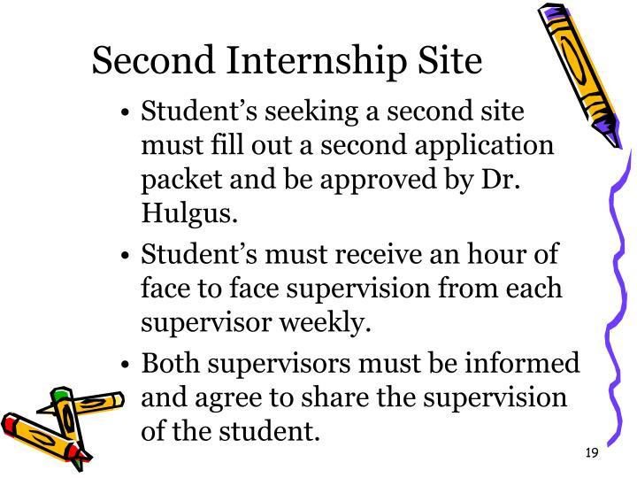 Second Internship Site