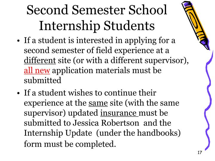 Second Semester School Internship Students