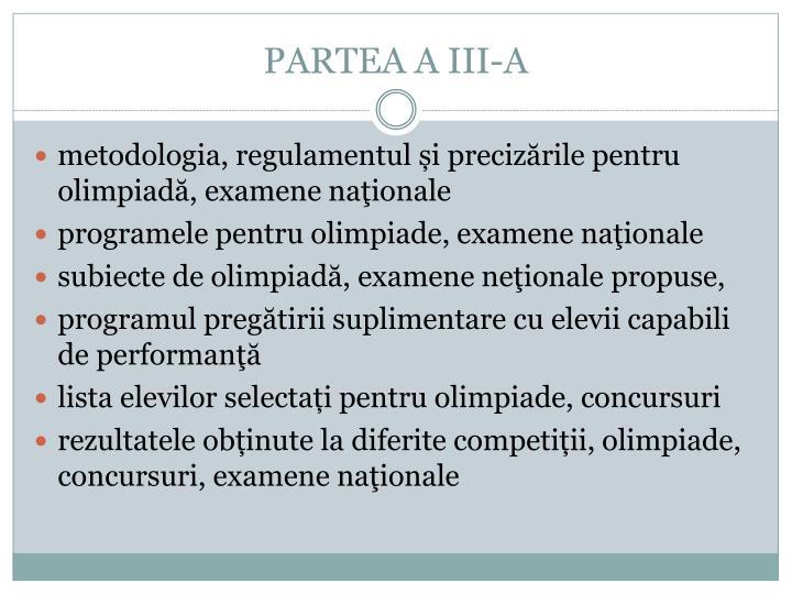 PARTEA A III-A