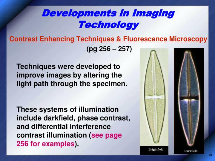 Developments in Imaging Technology