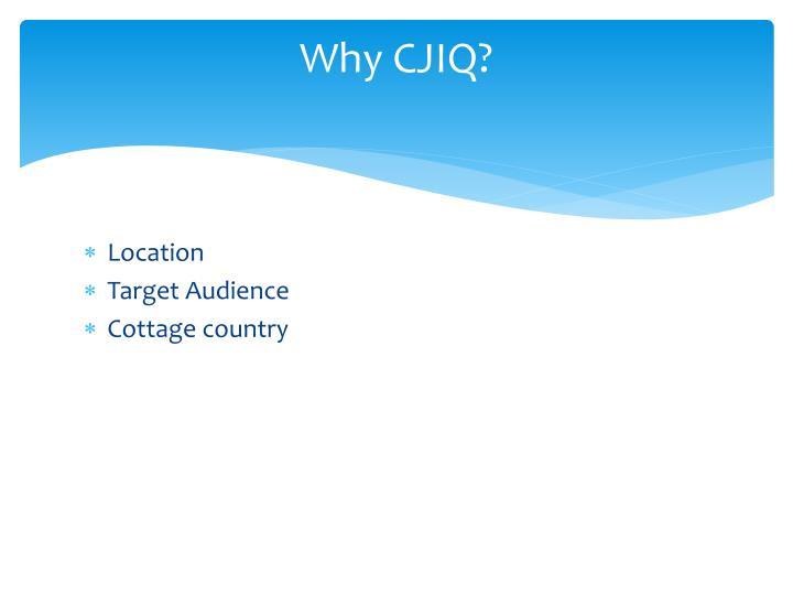 Why CJIQ?