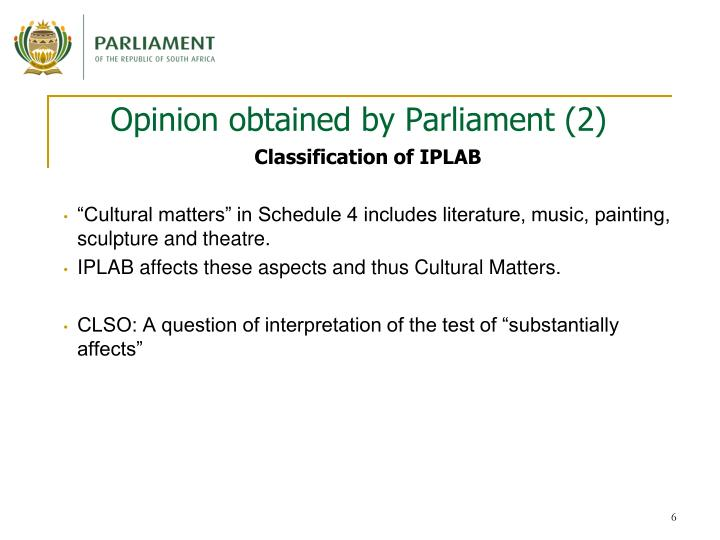 Opinion obtained by Parliament (2)