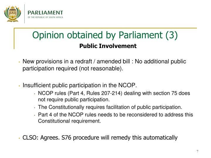 Opinion obtained by Parliament (3)