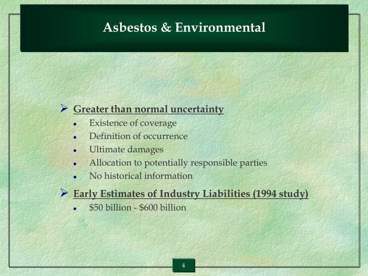 Asbestos & Environmental