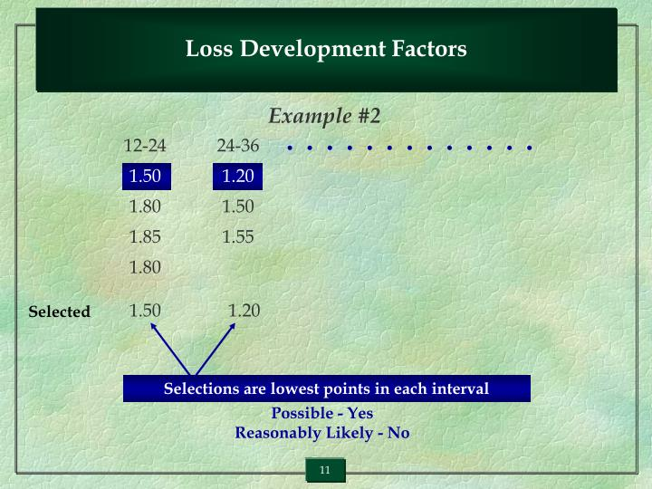 Loss Development Factors