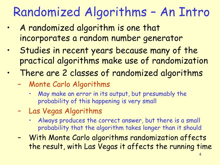 Randomized Algorithms – An Intro