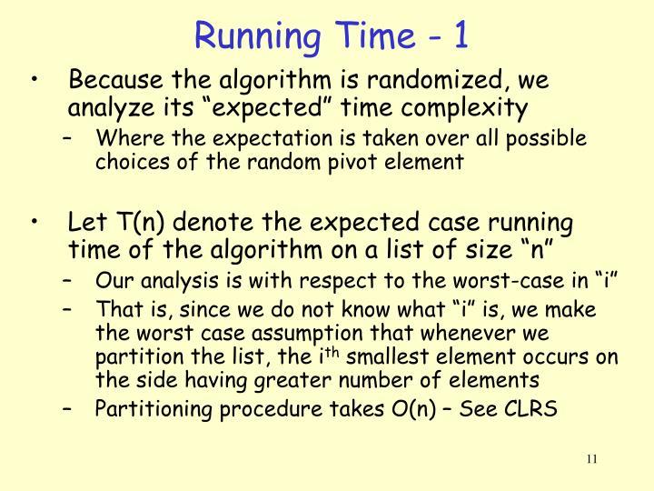 Running Time - 1