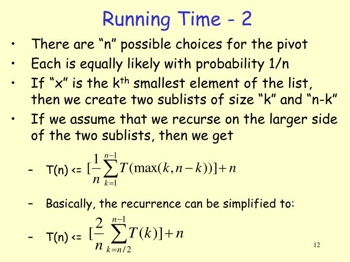 Running Time - 2