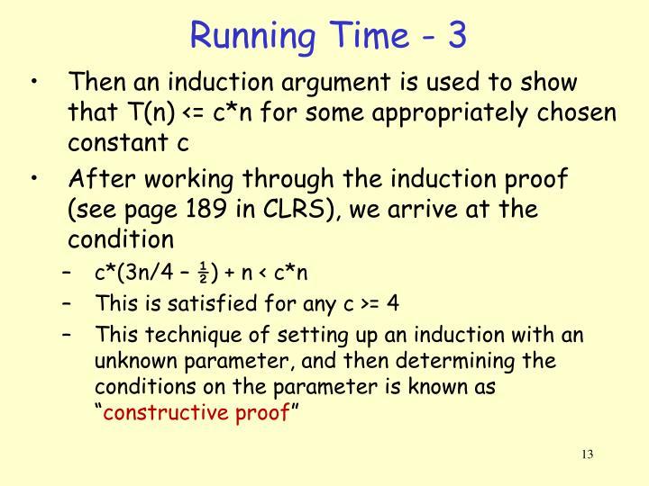 Running Time - 3