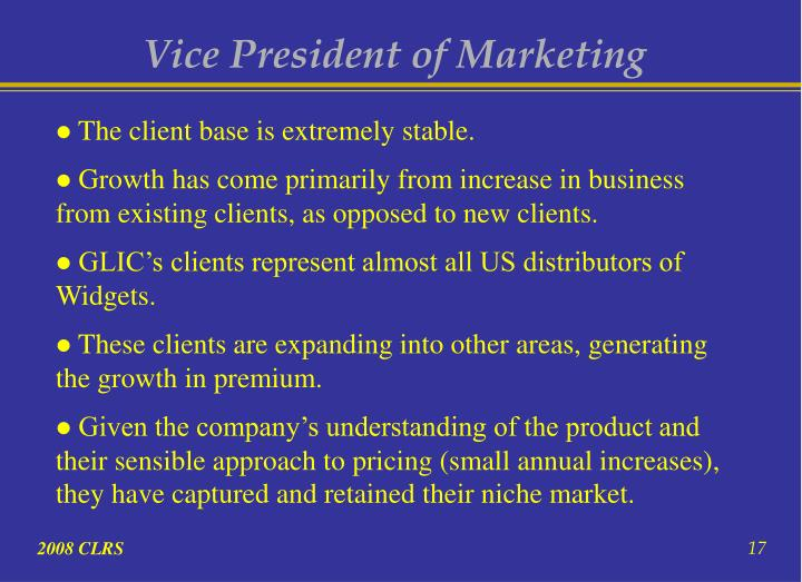 Vice President of Marketing