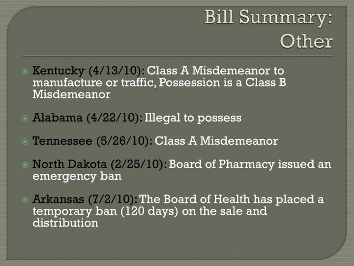 Bill Summary: