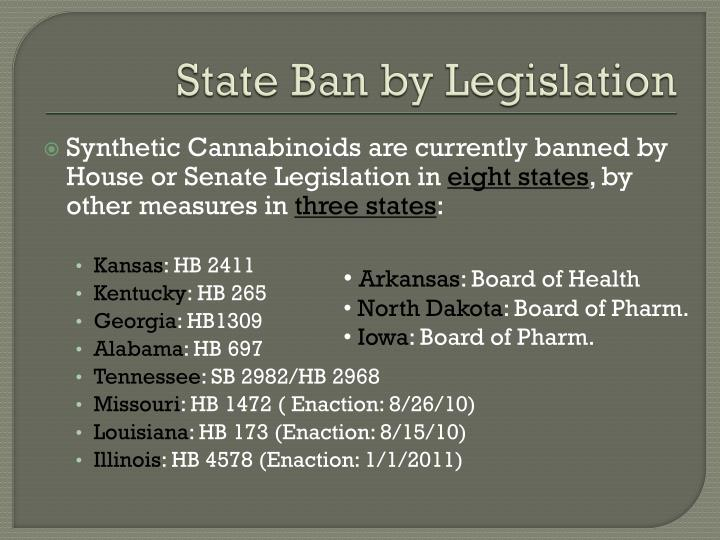 State Ban by Legislation