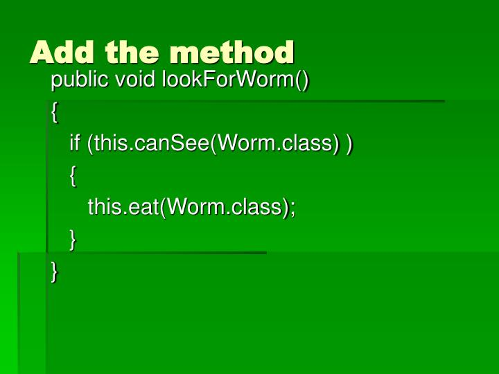 Add the method