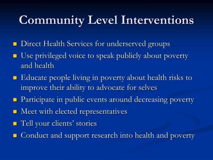 Community Level Interventions