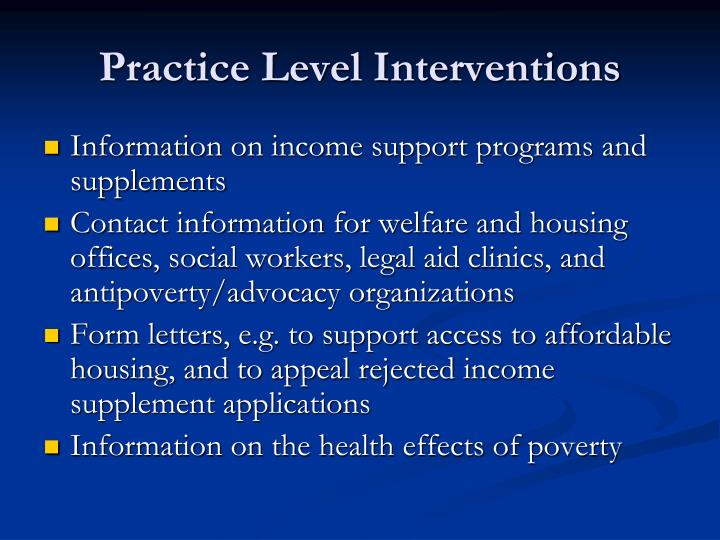 Practice Level Interventions