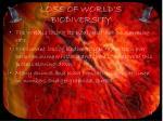 loss of world s biodiversity