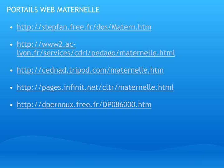 PORTAILS WEB MATERNELLE