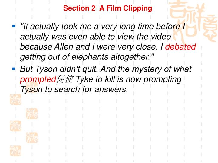 Section 2  A Film Clipping