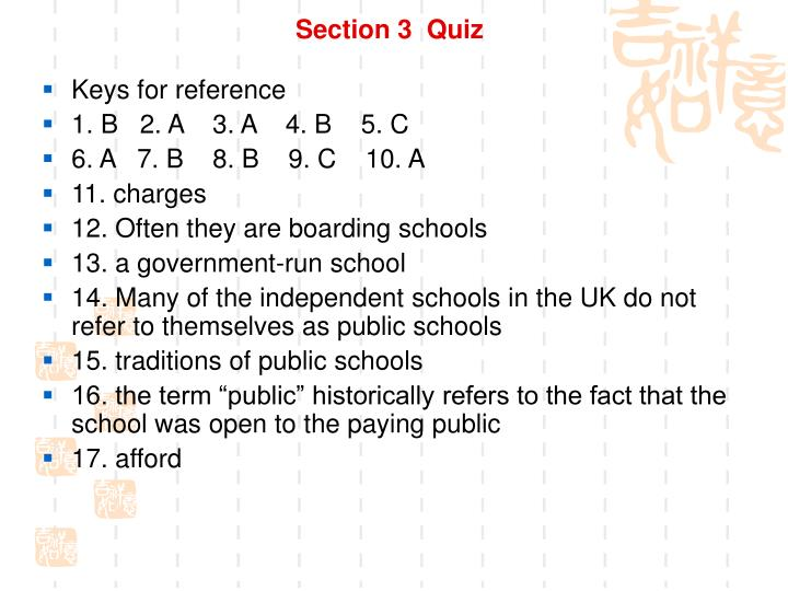 Section 3  Quiz