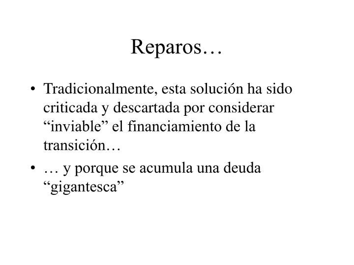 Reparos…