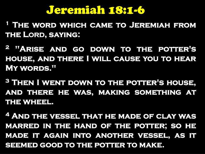 Jeremiah 18:1-6