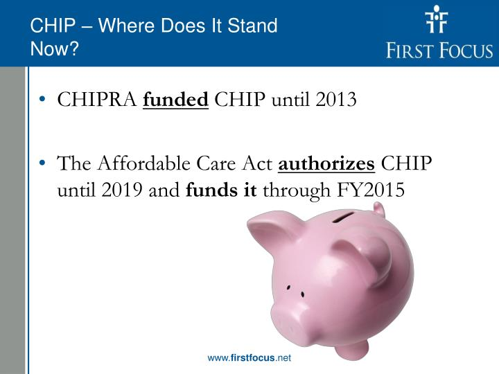 CHIP – Where Does It Stand Now?
