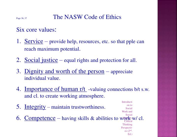 the importance of code of ethics to a person Ethics issues and how any organization practices ethics are more important the importance of ethics why do professional organizations have a code of ethics.
