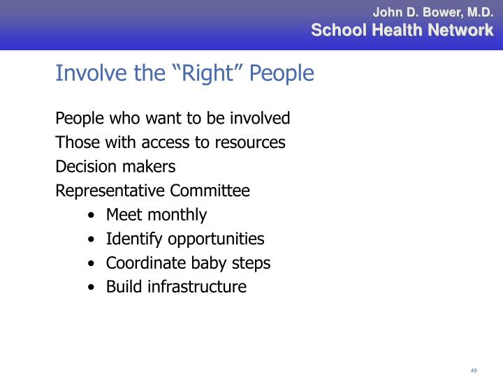 """Involve the """"Right"""" People"""
