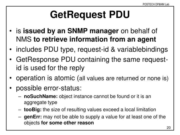 GetRequest PDU