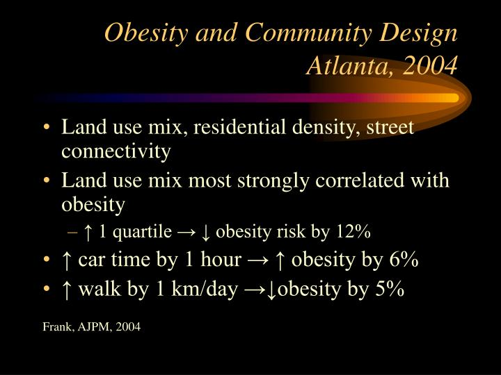 Obesity and Community Design