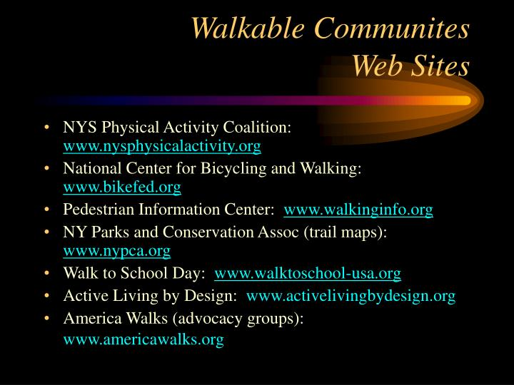 Walkable Communites