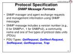 protocol specification snmp message formats