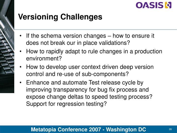 Versioning Challenges